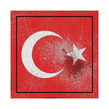 3d rendering of a Turkey country flag on a rusty surface Stock Photo