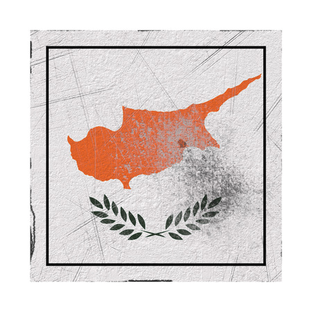3d rendering of a Cyprus country flag on a rusty surface