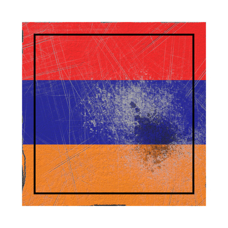 3d rendering of an Armenia country flag on a rusty surface Stock Photo - 122803245