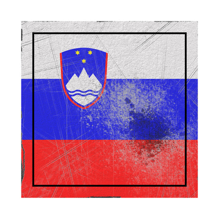 3d rendering of a Slovenia country flag on a rusty surface Stock Photo