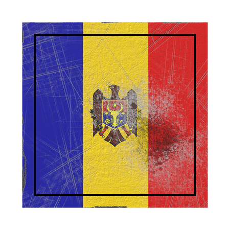 3d rendering of a Moldova country flag on a rusty surface Stock Photo