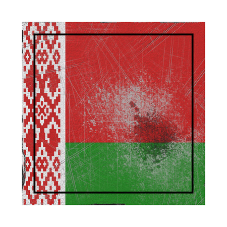 3d rendering of a Belarus country flag on a rusty surface