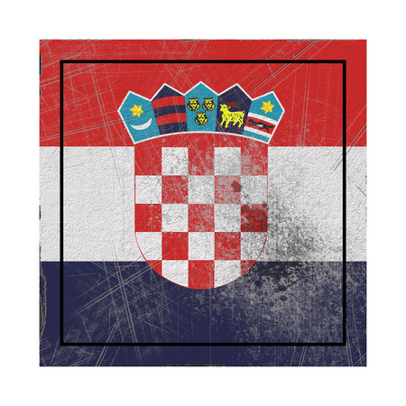 3d rendering of a Croatia country flag on a rusty surface
