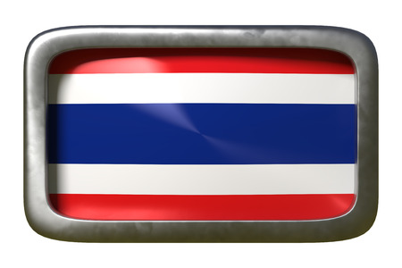 3d rendering of a Thailand flag on a rusty sign isolated on white background Stock Photo