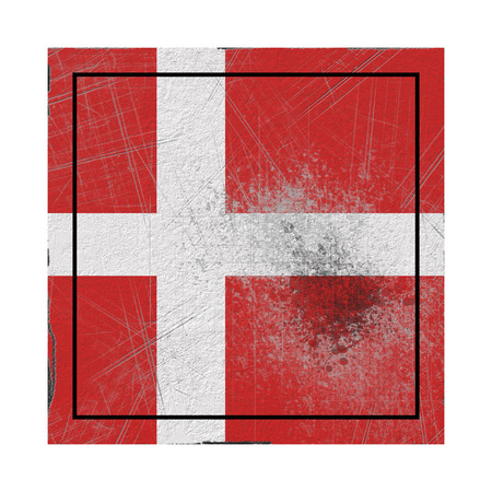 3d rendering of a Denmark country flag on a rusty surface