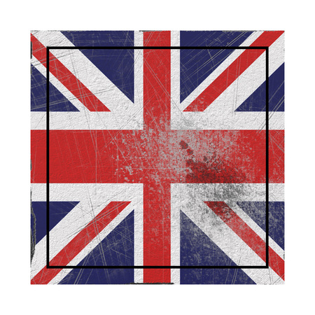 3d rendering of an United Kingdom flag on a rusty surface
