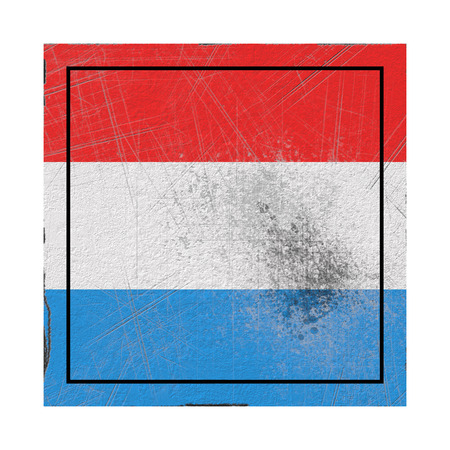 3d rendering of a Luxembourg country flag on a rusty surface