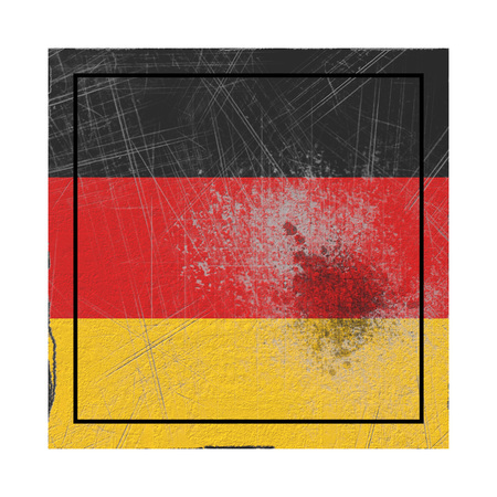 3d rendering of a Germany country flag on a rusty surface