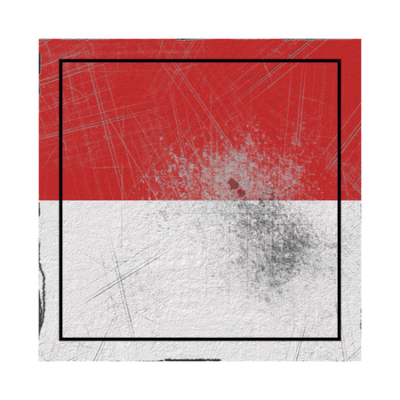 3d rendering of a Monaco country flag on a rusty surface Banco de Imagens