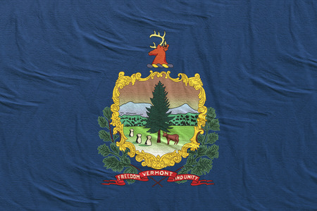 3d rendering of a Vermont State flag silk