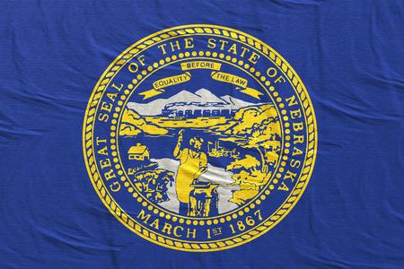 3d rendering of a Nebraska State flag silk