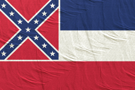 3d rendering of a Mississippi State flag silk Stock Photo