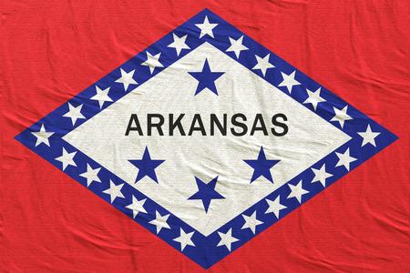 3d rendering of an Arkansas State flag silk Stock Photo