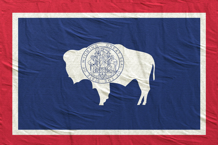 3d rendering of a Wyoming State flag silk