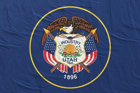 3d rendering of an Utah State flag silk 版權商用圖片