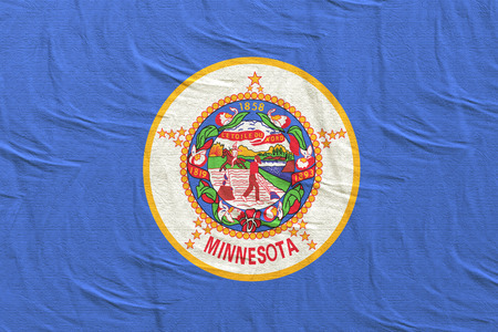 3d rendering of a Minnesota State flag silk 写真素材