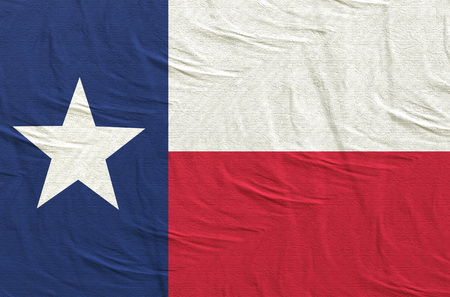 3d rendering of a Texas State flag silk
