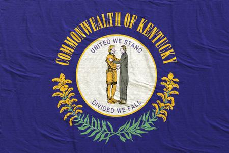 3d rendering of a Kentucky State flag silk