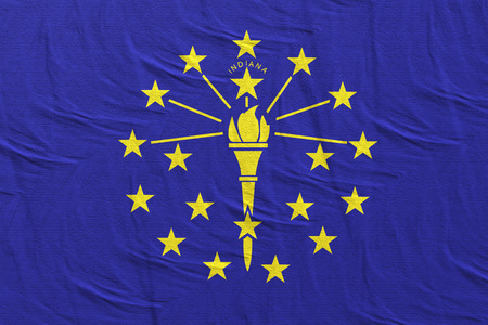 3d rendering of an Indiana State flag silk