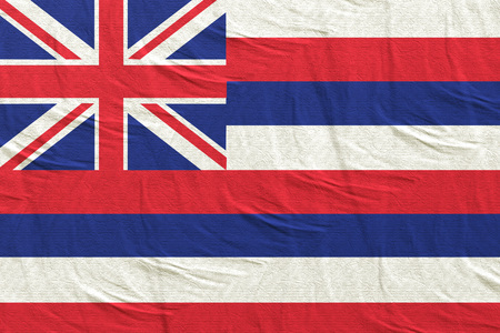 3d rendering of a Hawaii State flag silk