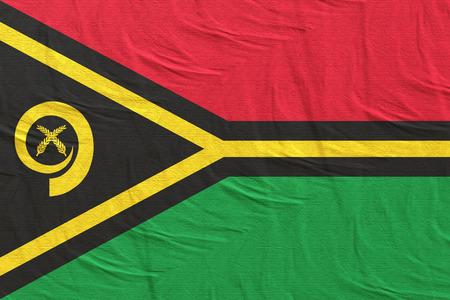 3d rendering of a Vanuatu flag silk