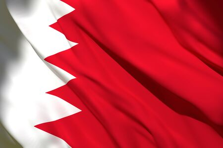 3d rendering of a Bahrain national flag waving Stock Photo