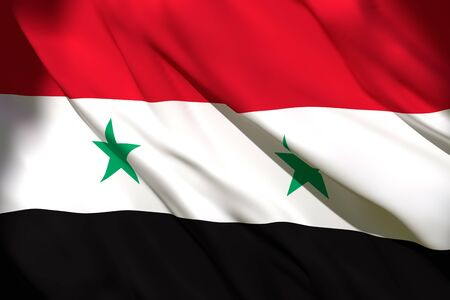 3d rendering of a Syria national flag waving