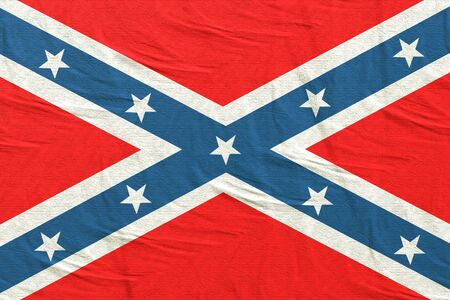 rendu 3D d'un vieux drapeau confédéré Banque d'images