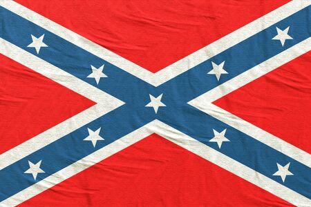 Representación 3D de una vieja bandera confederada Foto de archivo