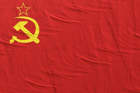 3D-Rendering einer alten sowjetischen Flagge