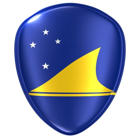 3d rendering of a Tokelau flag icon on white background.