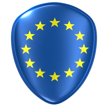 3d rendering of an EEC flag icon on white background.