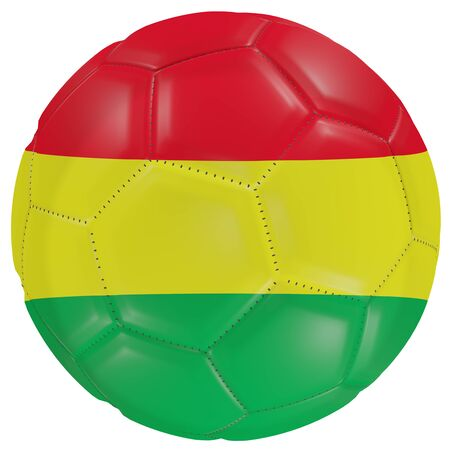 3d rendering of a Bolivia flag on a soccer ball. Isolated in white background Stock Photo