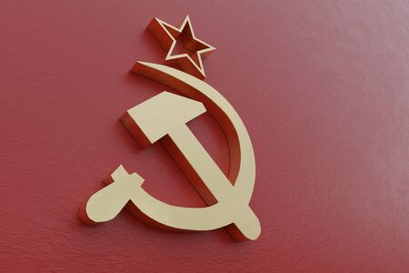 3d rendering of an old Soviet Union flag