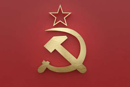 3d rendering of an old Soviet Union flag Stock Photo