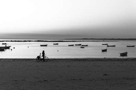 Paseo by the beach of the Piletas in Sanlucar de Barrameda, Cadiz, in the region of Andalucia in Spain.