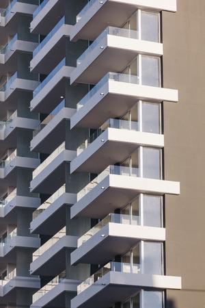 Apartment Building Detail. Balconies