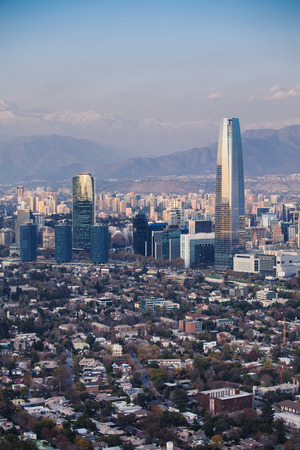 Financial district in Santiago, Chile. Costanera Center