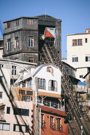 Ascensor Lecheros (funicular), Valparaiso, Chile