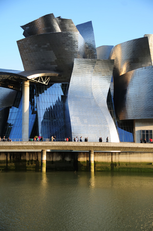 Bilbao, Spain - May 02, 2009: Guggenheim Museum Bilbao is a museum of modern and contemporary art designed by Canadian-American architect Frank Gehry in 1997, located in Bilbao, Basque Country, Spain