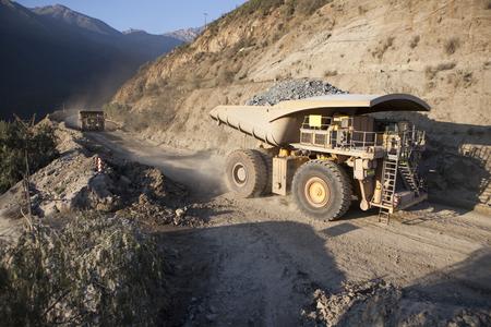 Mining Activity, mining dump truck Фото со стока
