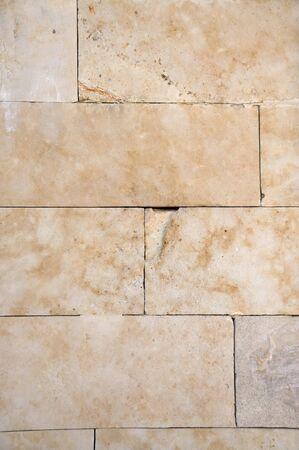 Stone Brick Wall. Detail