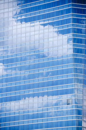 Sky Reflection on Modern Building in Madrid