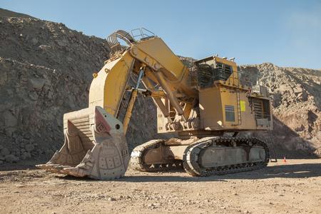 Huge excavator for mining. Shovel