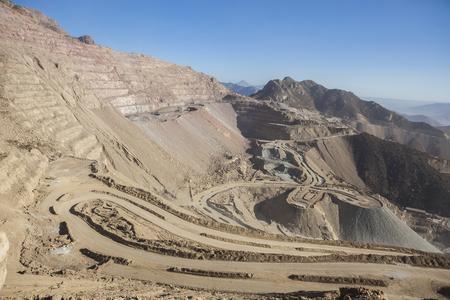 Copper mine near to Santiago, Chile