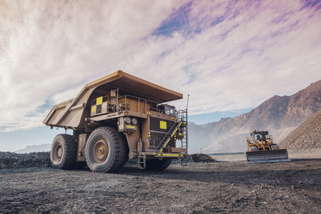 Haul truck in a Coppermine.