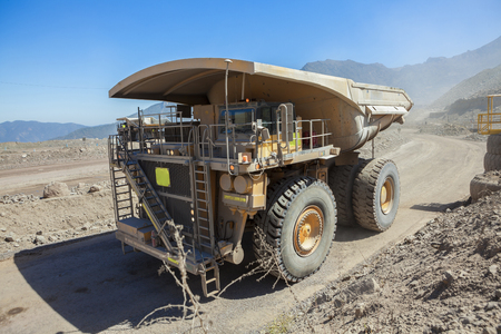 Haul truck in a Coppermine. Chile Редакционное
