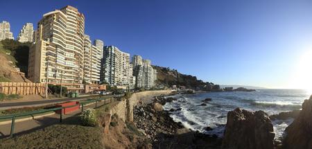 Cochoa Panoramic, Vina del Mar, Chile Фото со стока - 77311800