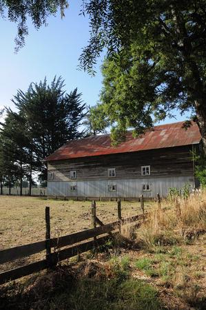 Barn in Osorno, South of Chile Фото со стока