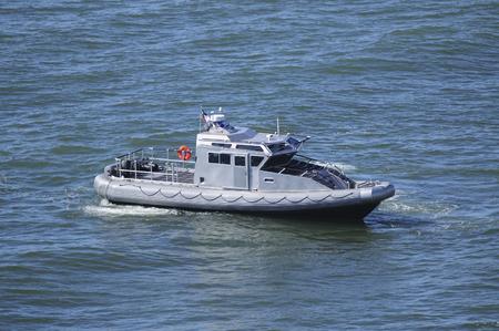 Navy patrol in the ocean Фото со стока